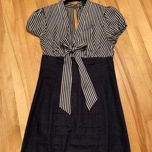 Guess - Dress Blue & White striped with Jeans
